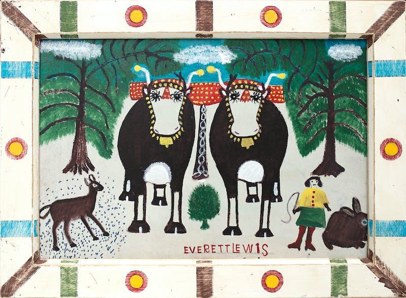 Winter Oxen Image 1