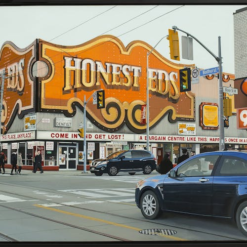 Honest Ed's 1 - Early Evening by Tad Suzuki, 2017 Acrylic - (36x48 in)