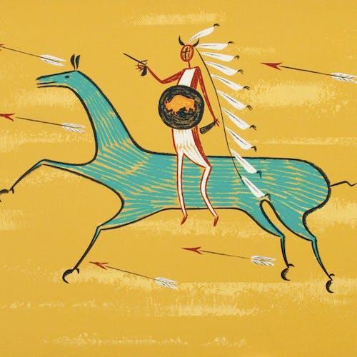 Plains Horseman by Arthur Price Sampson Matthews Silkscreen - (20x30 in)