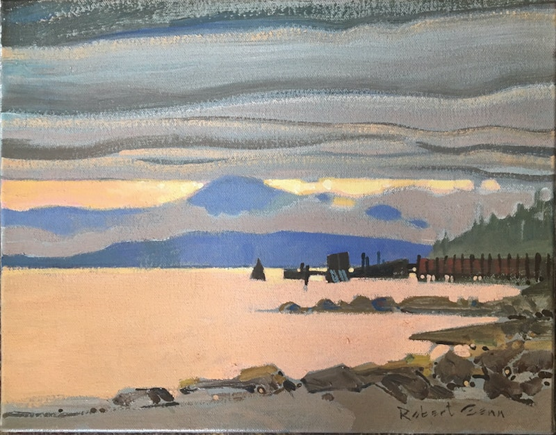 Waiting for the Ferry, N Pender Island, BC Image 1