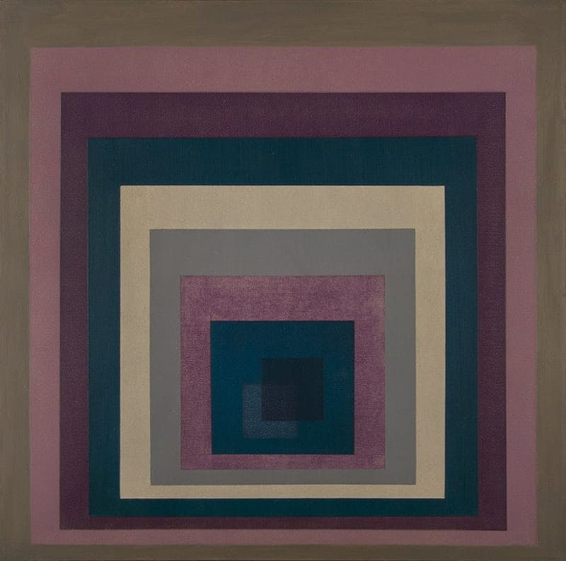 Composition 7393 by Annemarie Entz, 1973 Oil on Canvas - (28x28 in)