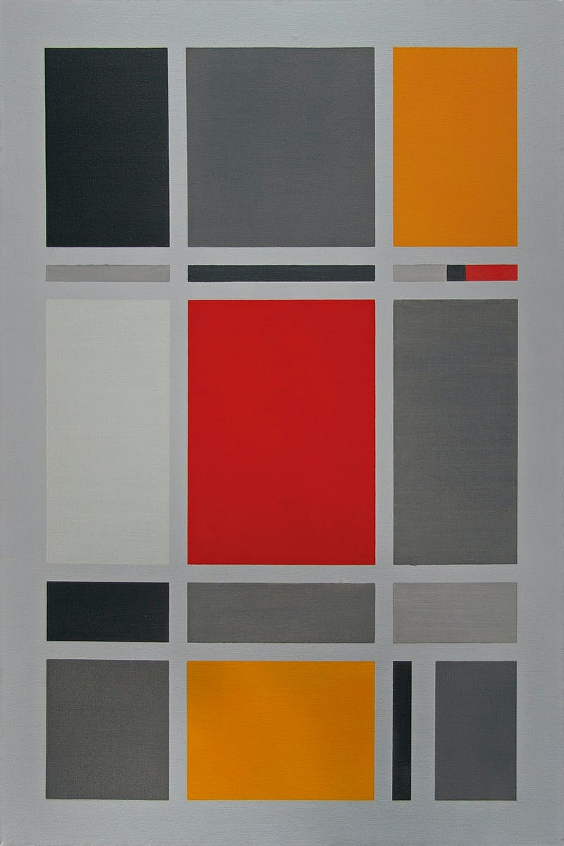 Composition with Red Rectangle