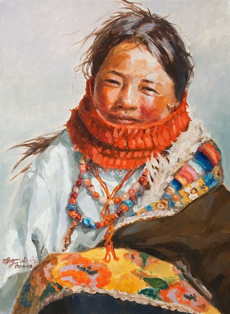 Plateau Girl by the Road Image 1