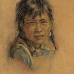 Portrait of Young Man by Nicholas de Grandmaison, circa 1948 Pastel - (13x10 in)