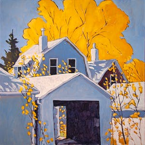 View from the Lane 1-20-1-12 by Robert McInnis, 2012 Oil - (30x30 in)