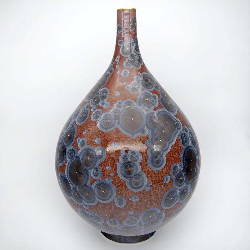 Blue Sahara Teardrop Vase