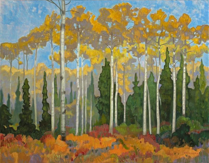 Poplars and Spruce Image 1