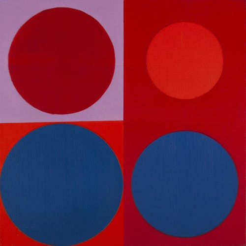 Composition 7371 by Annemarie Entz, 1973 Oil on Canvas - (24x24 in)