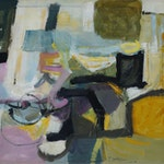 Dark Then Mostly Light by Tom Hodgson, 1956 Oil on Canvas - (34.5x66.5 in)