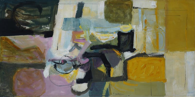 Dark Then Mostly Light by Tom Hodgson, 1956 oil - (34.5x66.5 in)