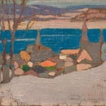 St. Joseph de Levis, Quebec by Albert Robinson, 1922 Oil on Panel