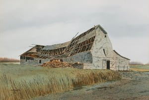 Old Barn Roof Collapsing