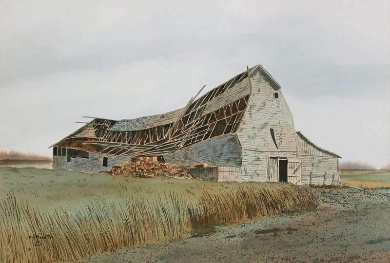 Old Barn Roof Collapsing Image 1