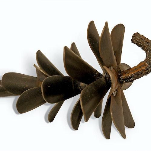 Pine Cone #16-093 by Floyd Elzinga, 2016 Corten Steel - (14x10x10 in)