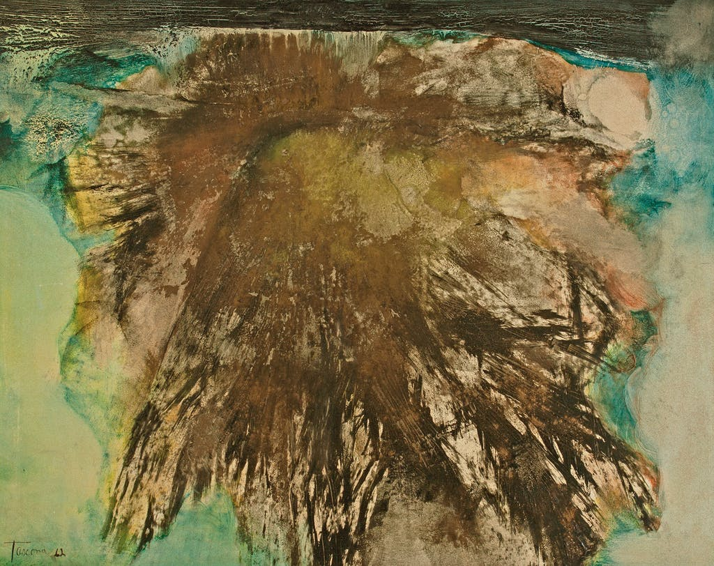 Untitled by Tony Tascona, 1962 Oil Emulsion on paper on panel - (21.25x27.25 in)