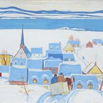 Quebec Village by Alexander Young Jackson, 1942 Tempra on Board - (26x38.5 in)