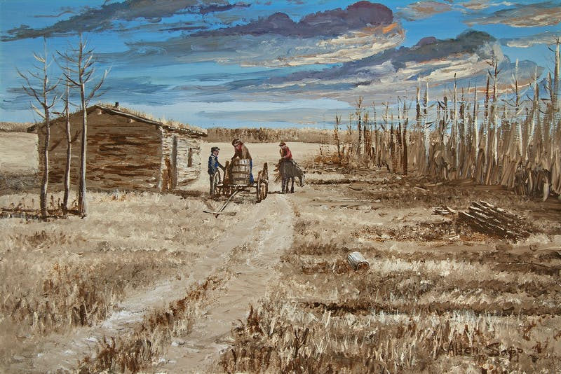 Allen Sapp - Simpler Days on the Prairies