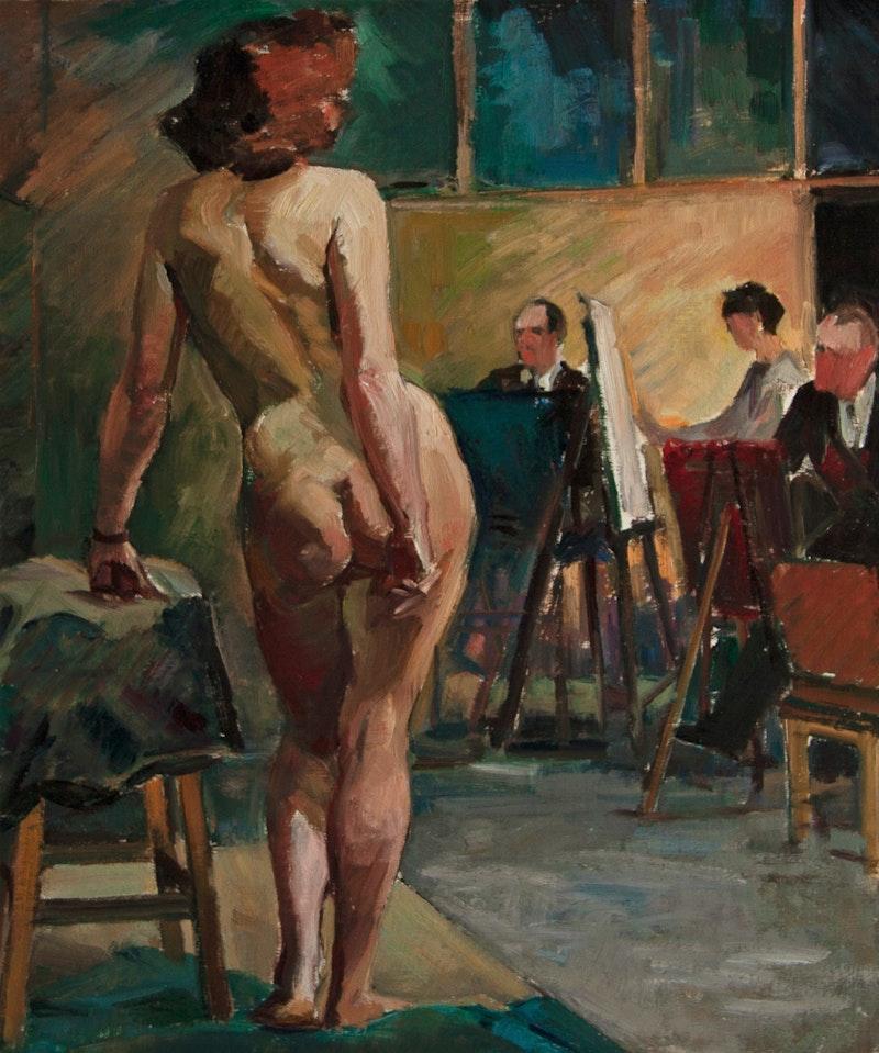 Nude Model in Art Class