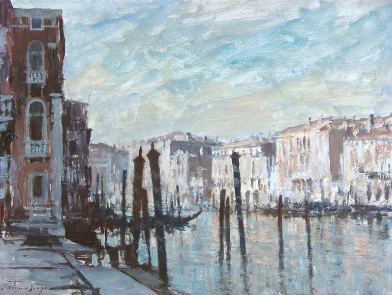 Mooring Posts, Grand Canal, Venice Image 1