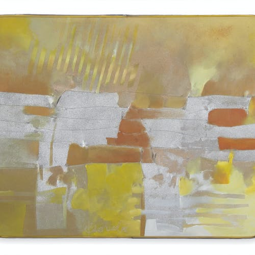 Untitled by Bruce Head, 1982 Acrylic on Relief Canvas - (25x30 in)