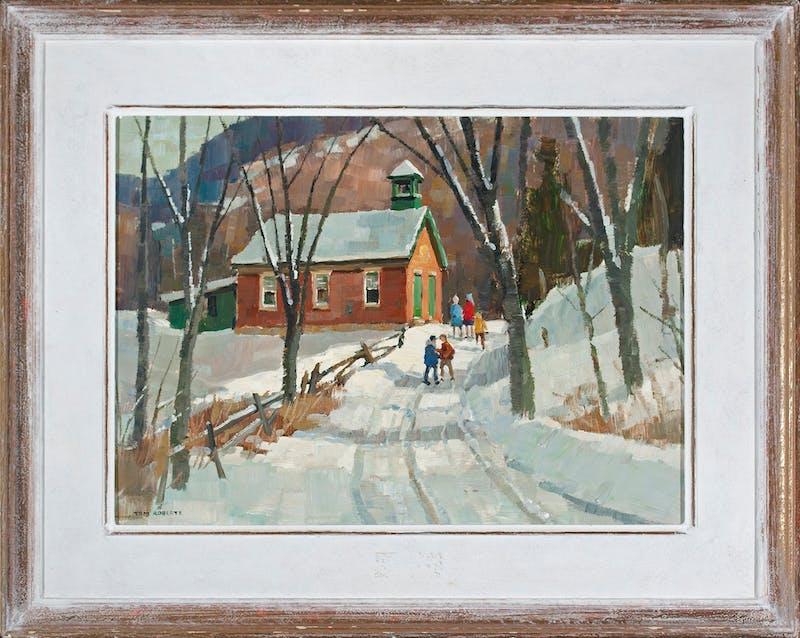 Country School in Winter