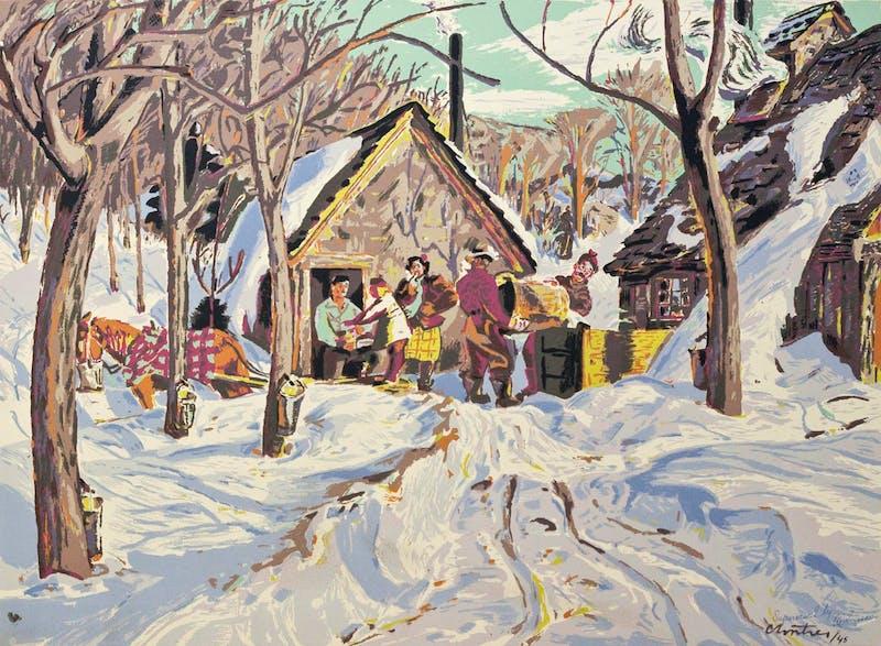 Sugar Time, Quebec by Albert Edward Cloutier, circa 1945 Sampson-Matthews Silkscreen - (20x27 in)