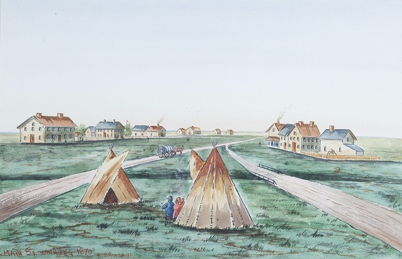 Main Street Winnipeg 1870