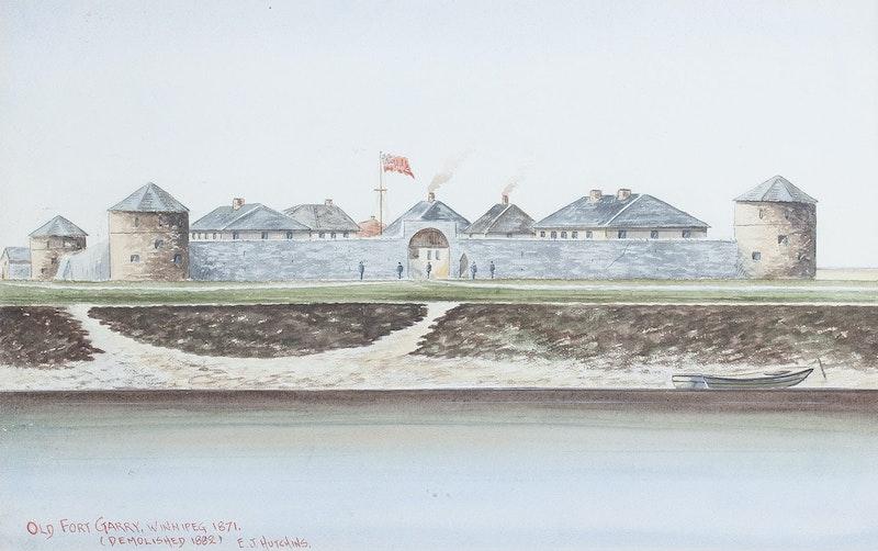 Old Fort Garry Winnipeg 1871 Image 1