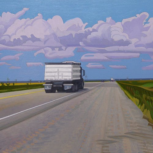 Near Ste. Agathe by Luther Pokrant, 2007 Oil On Panel - (12x16 in)