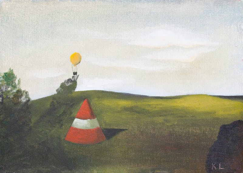Field With Yellow Balloon Image 1