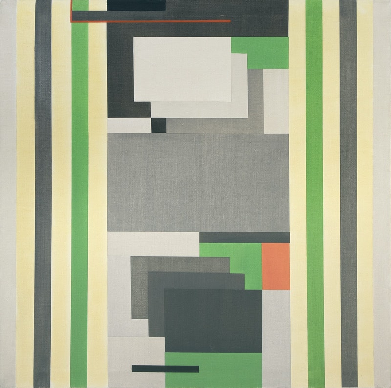 Untitled (Composition in Grey and Green) Image 1