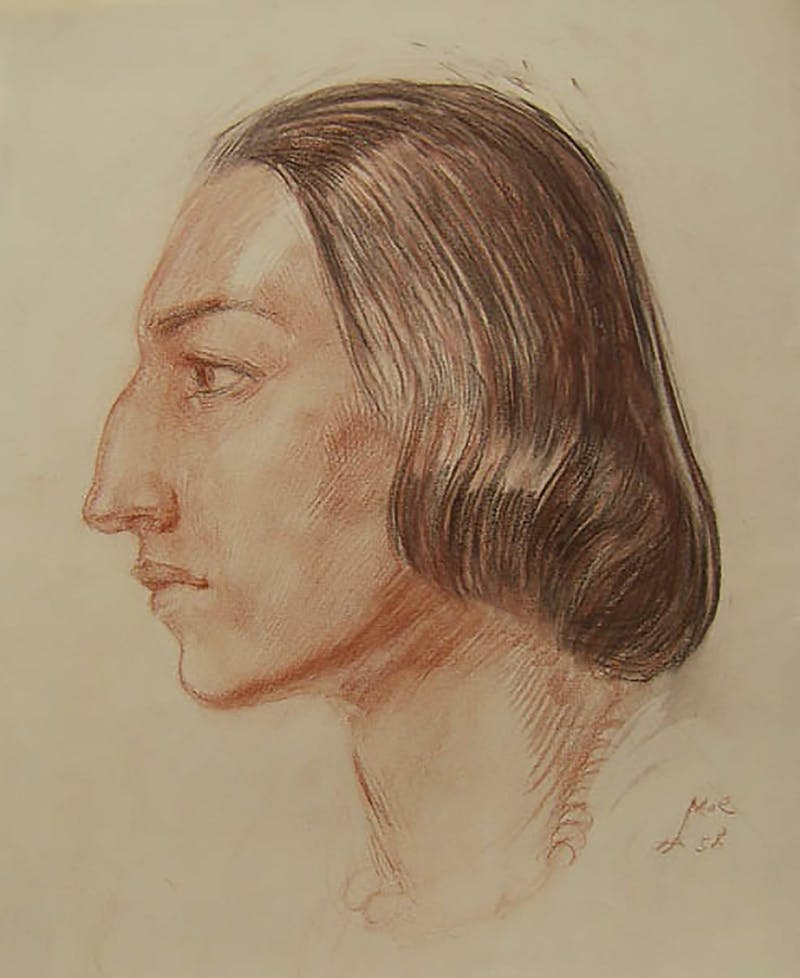 Head of a Woman in Profile, Study Image 1