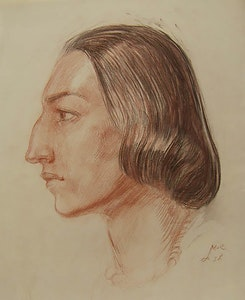 Head of a Woman in Profile, Study