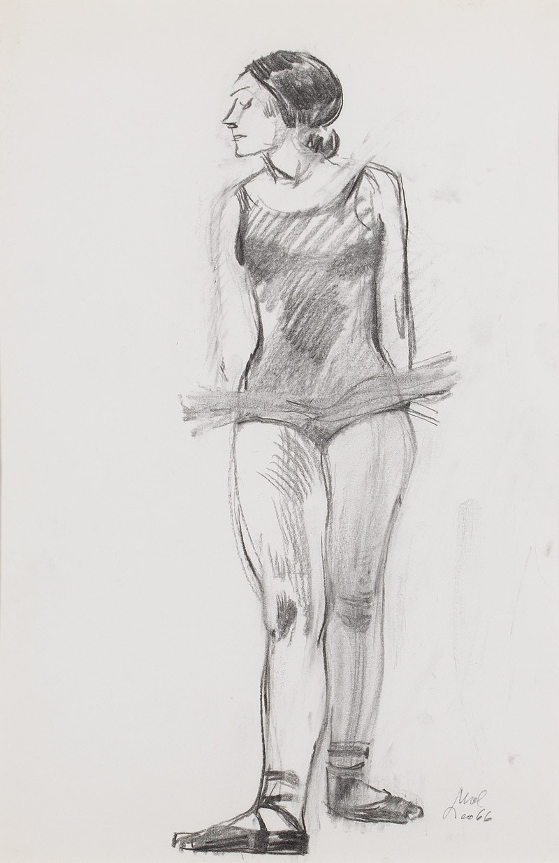 Model in Ballet Costume Image 1