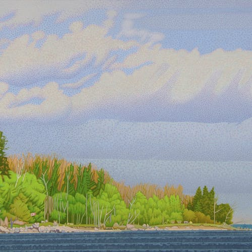 View from Hnausa Dock by Luther Pokrant, 2019 Oil on Canvas - (24x36 in)