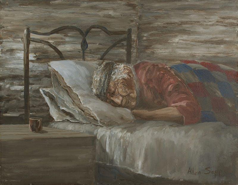 Grandmother Sleeping Image 1