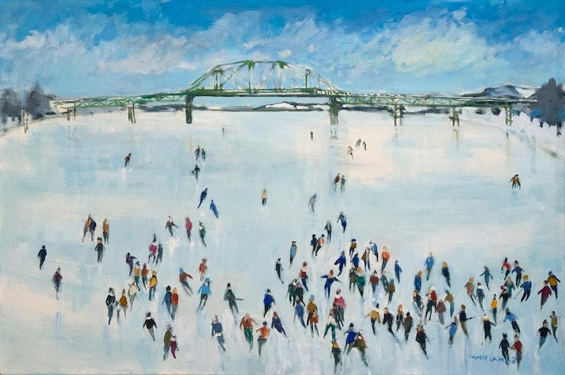 Skating on the St. John River Image 2