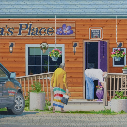 Julia's Place at Matlock by Luther Pokrant, 2019 Oil on Canvas - (24x24 in)