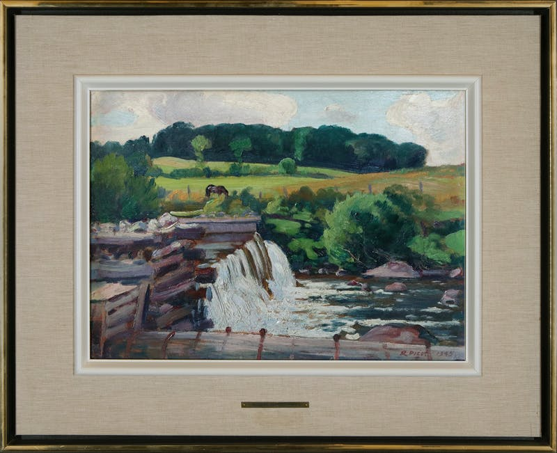 The Mill Dam, Christiville, P.Q. Image 1
