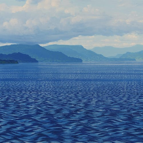 Land of Air, Earth and Sea by Randolph Parker, 2005 Acrylic on Canvas - (24x60 in)