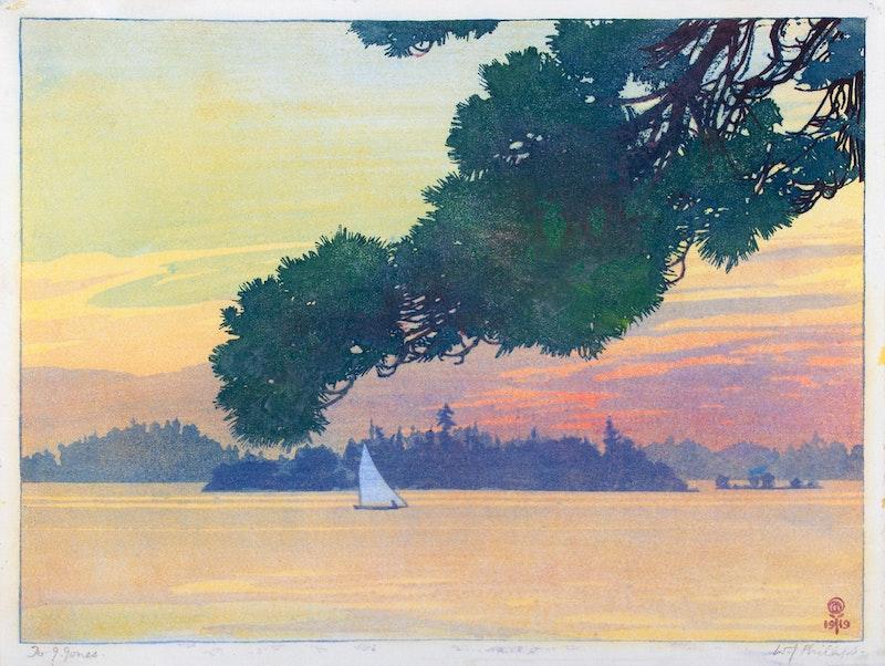 Sunset Lake of the Woods Image 1