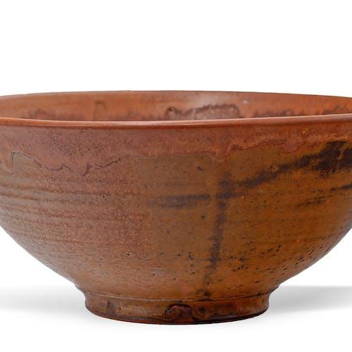 Vessel by Robert Archambeau, circa 1970 Glazed Stoneware - (5.25x11.75 in)