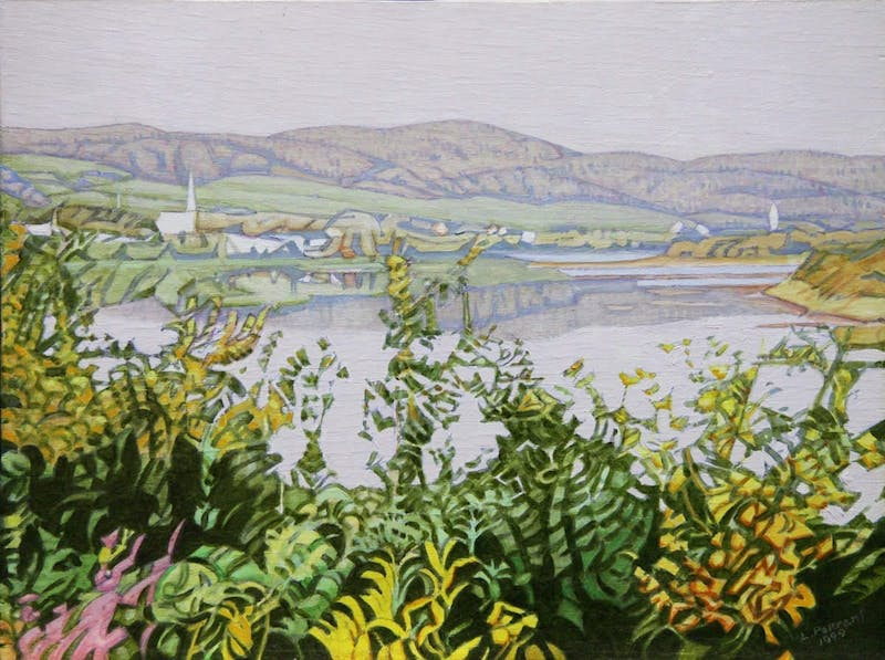 North St.John River, New Brunswick by Luther Pokrant, 1999 Oil on Canvas - (11.75x16 in)