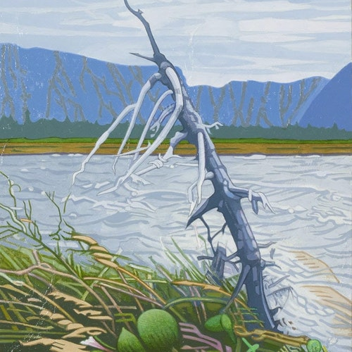 Western Brook, NFLD by Luther Pokrant, 2013 Oil on Aluminum Panel - (16x12 in)