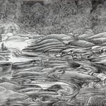 Whirling Waters by Henry Eric Bergman, 1939 Woodblock - (9x11 in)