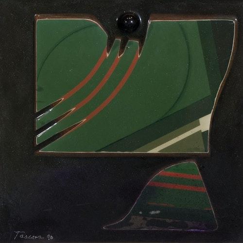 Green Balance by Tony Tascona, 1990 Resin on Aluminum - (14x14 in)