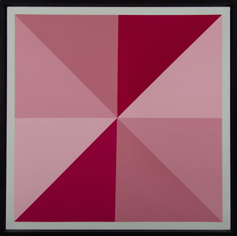 Composition 7486 (Red and Rose Star) Image 1