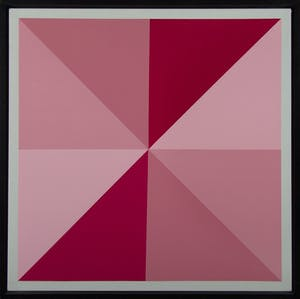 Composition 7486 (Red and Rose Star)