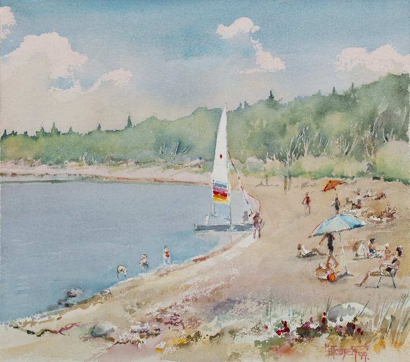 Sailboat on Victoria Beach Image 1
