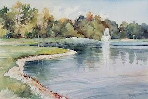 Fountain on Golf Course, Niakwa